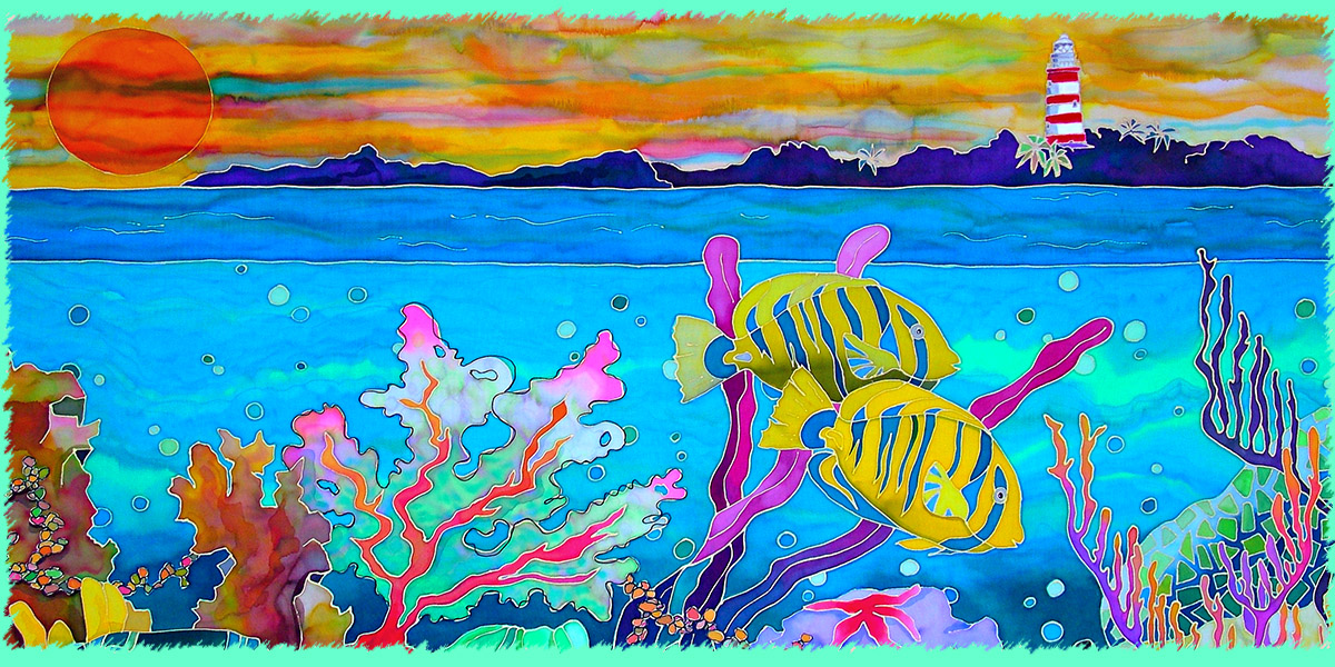 art on canvas : reef fish
